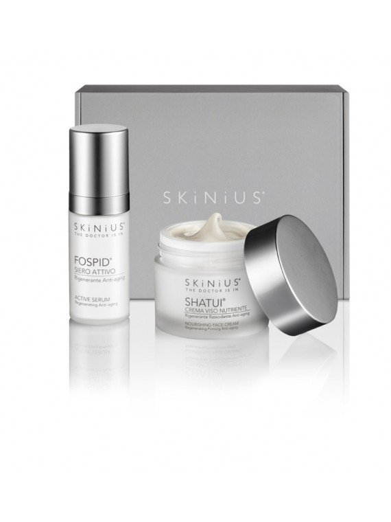 Anti-age Super: Fospid® Serum and Shatui® to regenerate and enhance the skin on your face