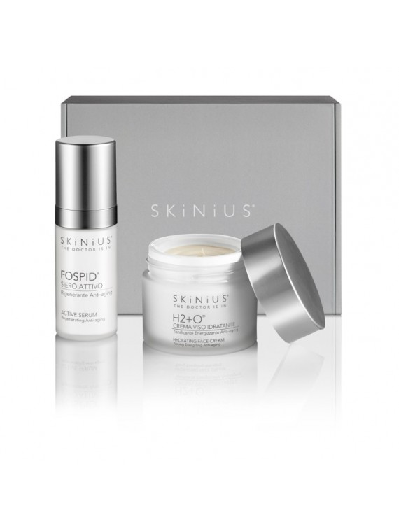 Anti-age Plus: Fospid® Active Serum and H2+O® to regenerate and enhance the skin on your face