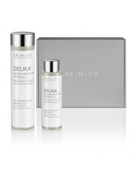 Double Water, la Beauty Box per avere sempre con te l'acqua micellare per la detersione quotidiana del viso. Anche in aereo!