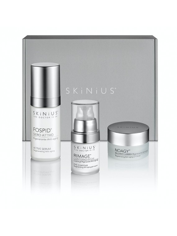 Antiage Contours and blemishes is the Skinius Beauty Box that with Fospidina helps to improve blemishes around the eyes and lip