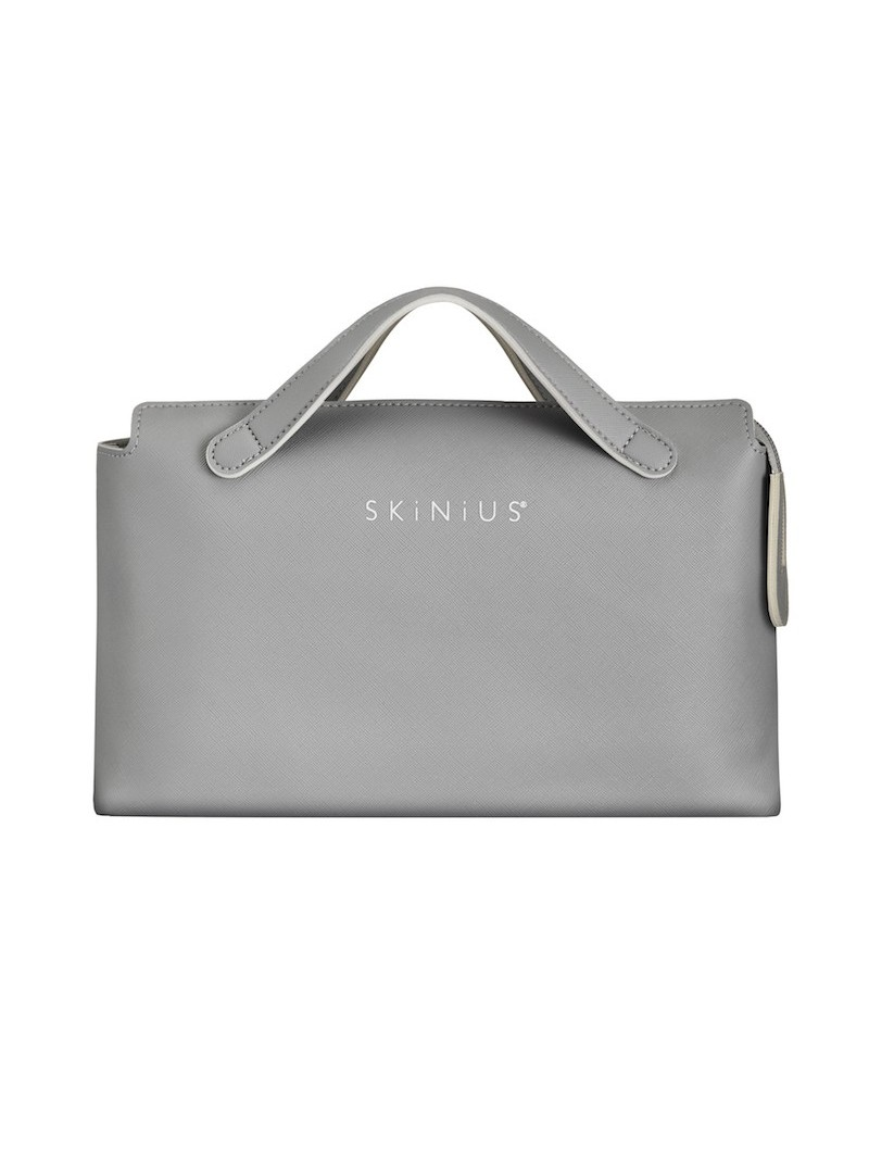 SKINIUS Beauty bag in saffiano faux-leather