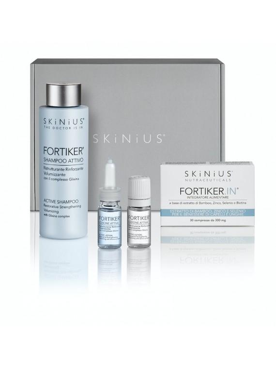 Beauty Box SOS Capelli FORTIKER, un trattamento pensato per ridare forza ed energia a capelli sottili e fragili.