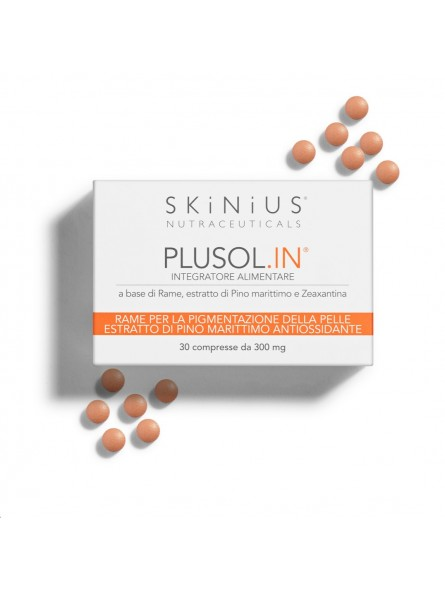 Plusol.IN is the antioxidant sun supplement that protects the skin from photoaging