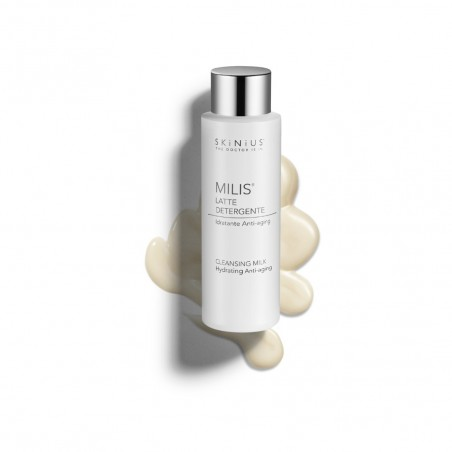 Milis moisturizing and anti-aging Skinius cleansing milk with Fospidina complex, Vitamin C and antioxidant mix