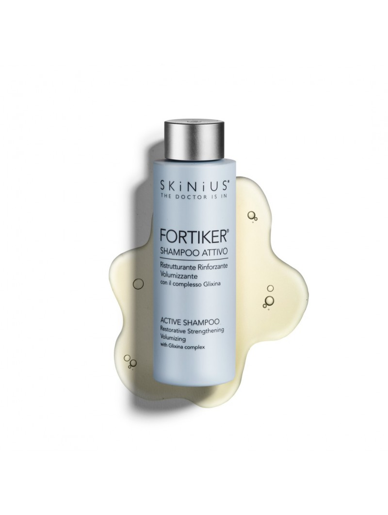 FORTIKER active shampoo thanks to its special gel texture treats both hair and scalp for a pleasant sensation of wellbeing.