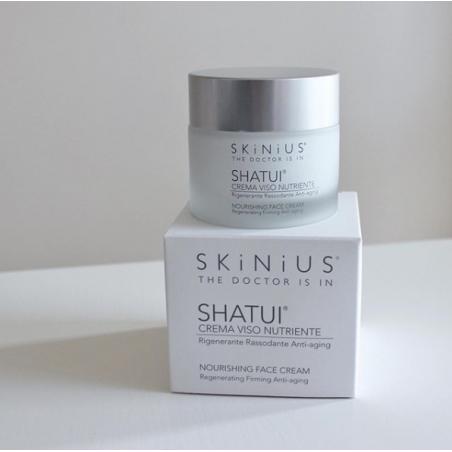 Shatui crema viso nutriente con filtro solare per pelli mature.