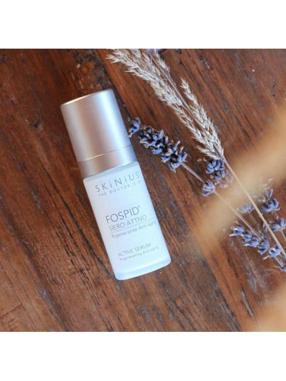 Fospid siero attivo rigenerante antiaging anche per pelle sensibile.