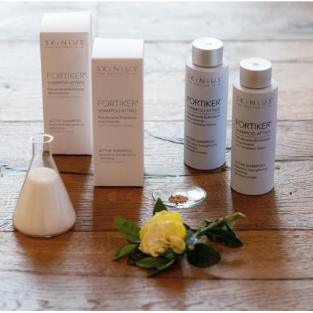 Fortiker shampoo attivo con Glixina per cuoio capelluto sensibile.