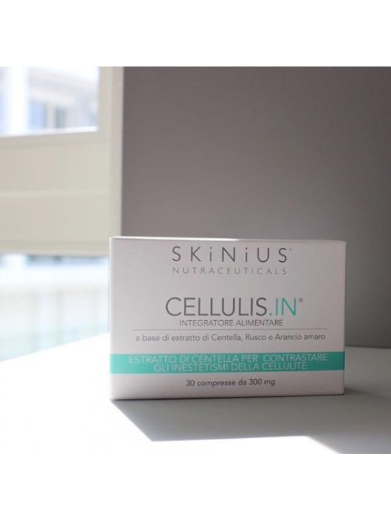 Cellulis.IN integratore con centella per contrastare gli inestetismi della cellulite.