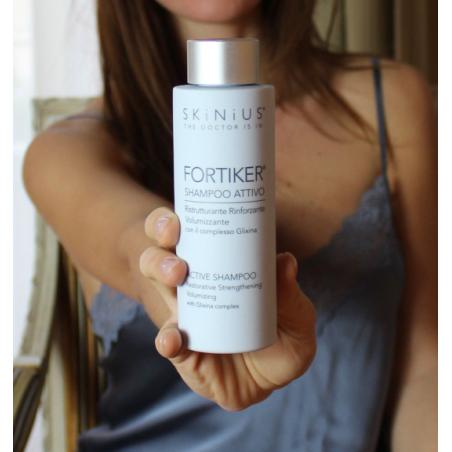 FORTIKER shampoo ristrutturante, rinforzante, volumizzante per capelli con Glixina e Biotina