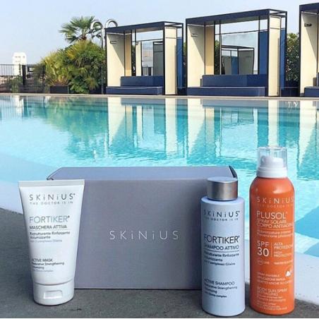 Protezione solare spray per capelli + shampoo per capelli fragili + maschera ristrutturante per capelli