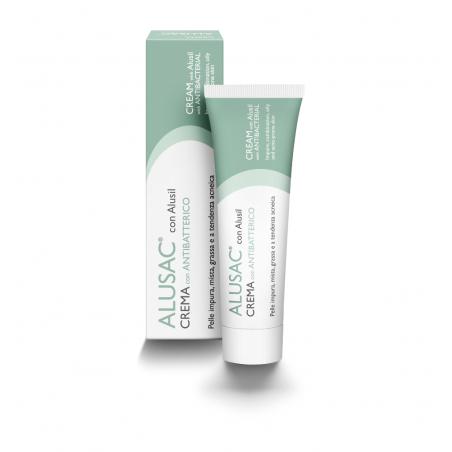 ALUSAC Crema con antibatterico dall'azione Normalizzante Opacizzante Seboequilibrante