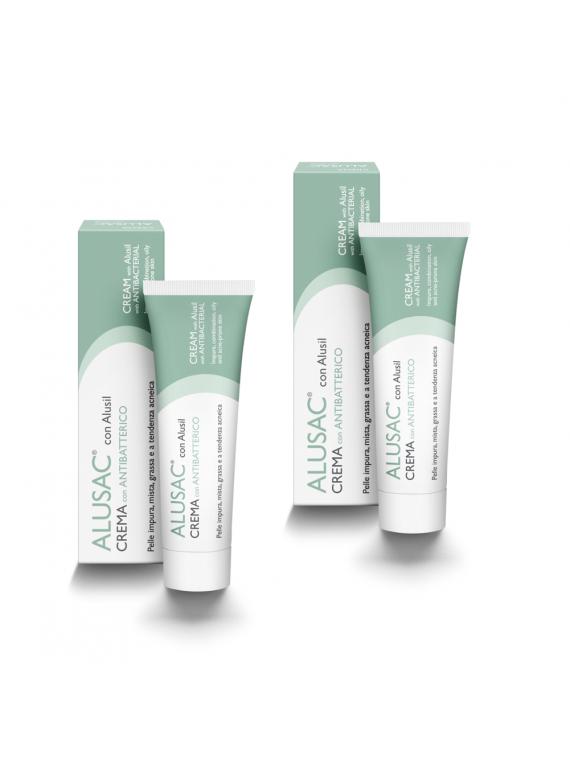 ALUSAC bipack Crema per non rimanere mai senza il tuo trattamento antiacne