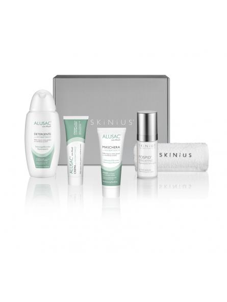 Scopri il kit skinius dedicato alla beauty routine della pelle asfittica.
