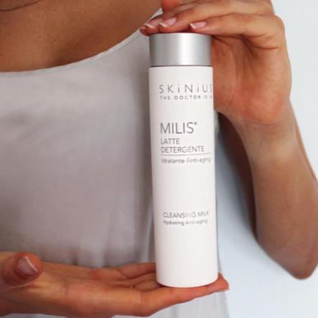 Milis latte detergente delicato per pelle sensibile.