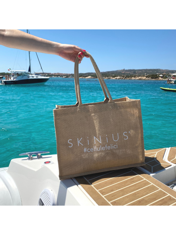 Skinius Juta bag in 100% juta naturale