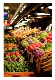 Frutta e verdura fresca per tenere sotto controllo l'acne.