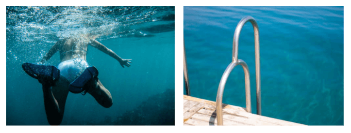 nuoto per il benessere della pelle Skinius