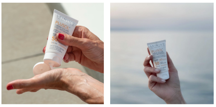 Plusol crema solare Skinius adatta anche in caso di couperose
