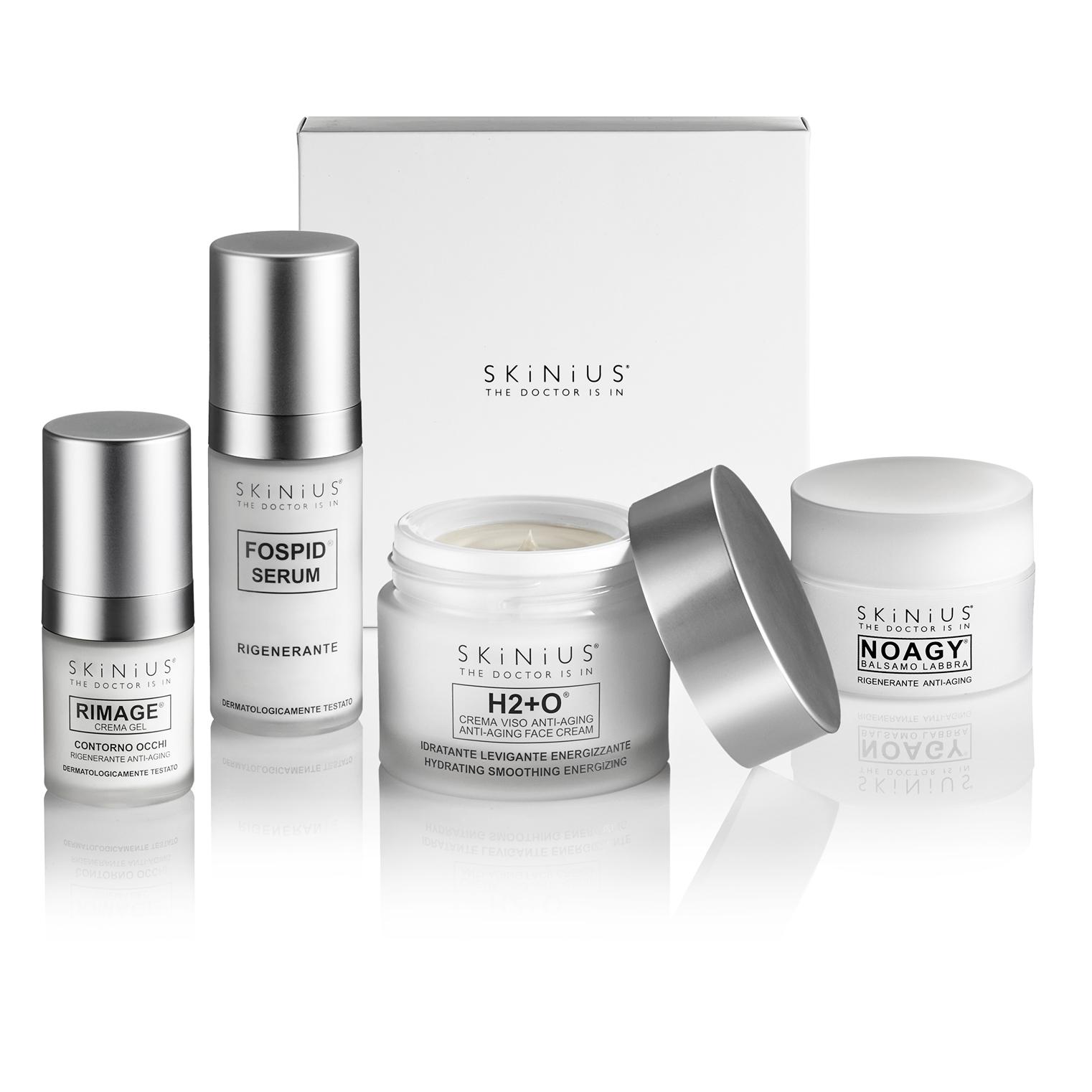 Con la Beauty Box Antiage Totale 35Y+ di Skinius imparerai a curare proprio la pelle delicata e sensibile del volto, valorizzandone il colore e la sofficità naturale.